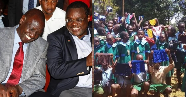 ODM MP donates under-wears for school kids, poses for photos as campaigns hot up