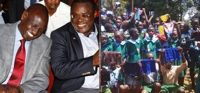 ODM MP donates under-wears to school kids, poses for a photo