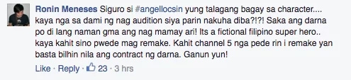 Everyone's excited about Angel Locsin taking the Darna role