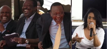 Boos at Raila rally in Kiambu after DP Ruto's name was adversely mentioned (video)