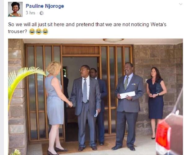 Why Kenyans are saying Wetangula was wearing Mudavidi's cloths(photo)
