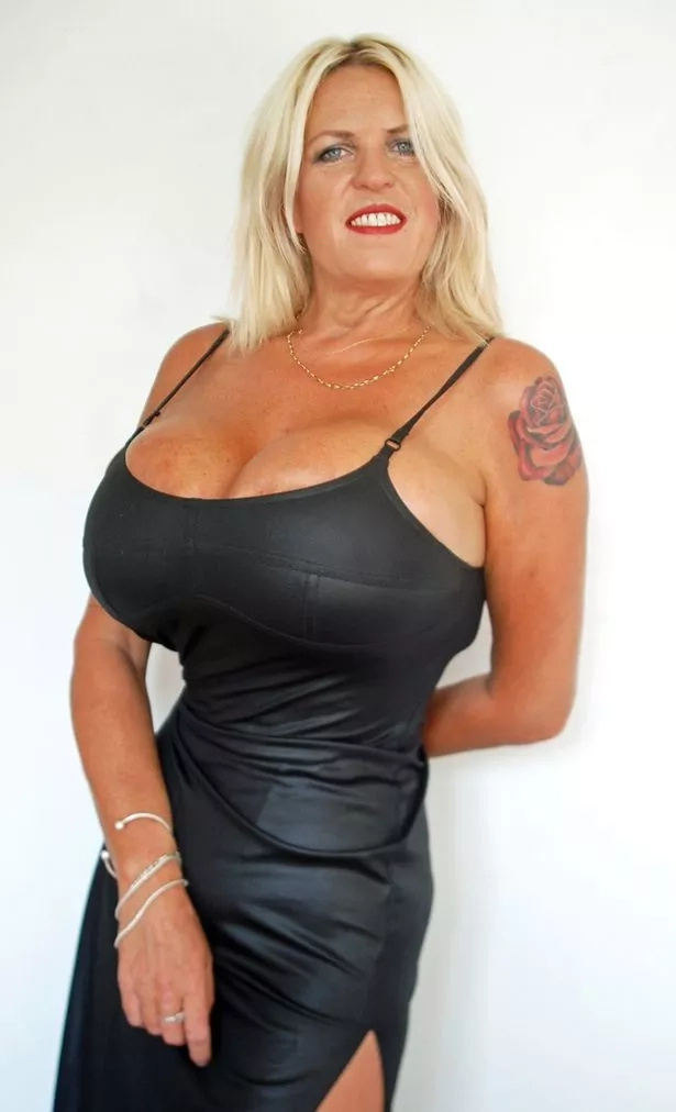 See British woman with giant breasts and tiny waist