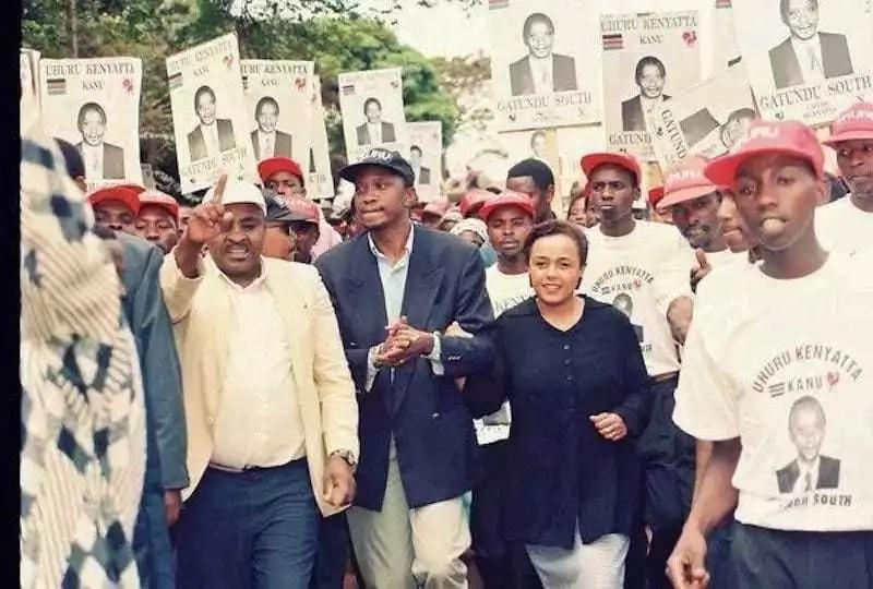 Uhuru na mkewe katika siasa za 1997, Gatundu