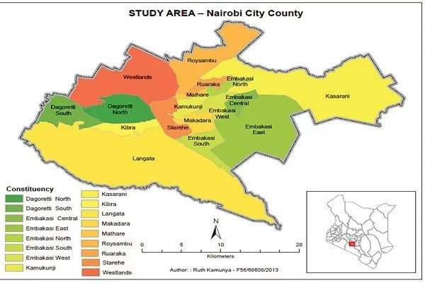 Constituencies in Nairobi County and Their MPs