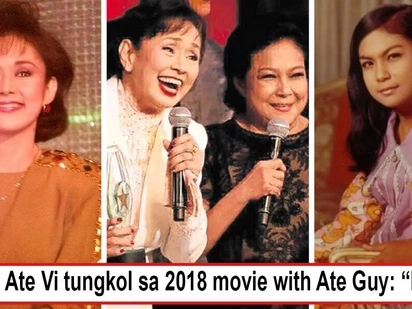 Ang tatanda na, di pa rin tapos yung kumpetisyon? Vilma Santos says a loud 'Nope' when asked about possible 2018 movie with perpetual rival Nora Aunor