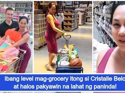 Grabe mamakyaw ng paninda! Video ni Cristalle Belo habang nag-gogrocery nag-viral