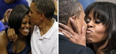 17 best photos of President Obama and Michelle holding, kissing in public