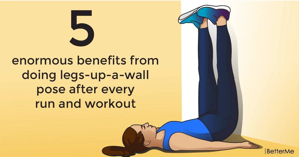 5 enormous benefits from doing legs-up-a-wall pose after every run and workout