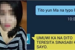 Her mom got enraged after her child messaged her this