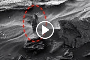 Creepy footage of a strange woman walking on Mars may be the evidence of aliens' existence