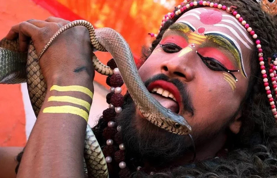 See how the worshippers of Shiva, the god of DESTRUCTION, celebrate their god's birthday (photos)