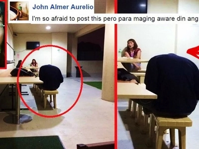 A terrified netizen shared a video of a 'headless' man at a call center office in Mandaluyong City! Watch the disturbing footage here!