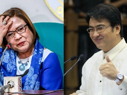 Ang tamis! Leila De Lima receives special delivery from Bong Revilla inside Camp Crame