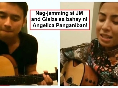 Glaiza de Castro performs 'Malaya' and 'Tadhana' with JM de Guzman while visiting Angelica Panganiban's house