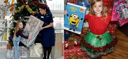 Born with 7 holes in her heart young girl kindly donates 1,000 gifts to hospital patients