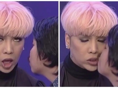 Nadali din ni kabayan! Empoy Marquez shows off his hokage moves as he steals a kiss from Vice Ganda