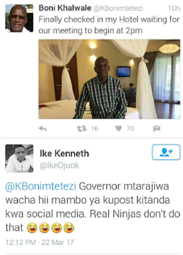 Kenyans demand to see Bonny Khalwale's side chick after posting this photo
