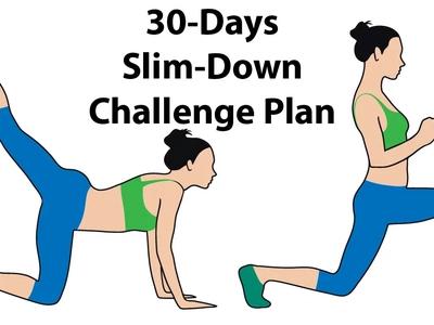 30-Days Slim-Down Challenge Plan