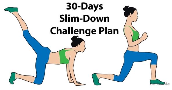 30-days challenge plan to get a slim body
