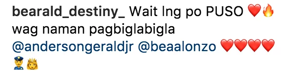 Rumored couple Bea and Gerald makes netizens swoon over their cute conversation about her IG post