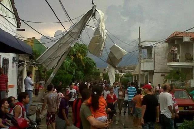 Fuertes vendavales en Sabanalarga, Quibdó y Bucaramanga
