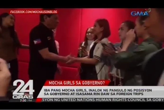 OMG! Pres. Duterte planned on giving government position to the other Mocha Girls members.