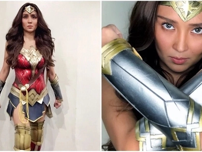 Move over Darna! Kathryn Bernardo stuns netizens in her Wonder Woman costume