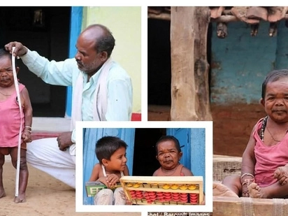 The smallest 50-year old in the world. Meet Basori Lal, an Indian who stands at 29 Inches tall!