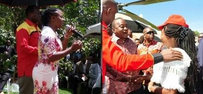Popular RMS radio presenter meets Uhuru as she seeks MP seat under Jubilee