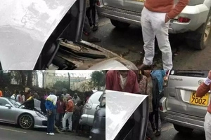 Moments after crashing his KSh 30million car, police arrest Kenyan billionaire's son