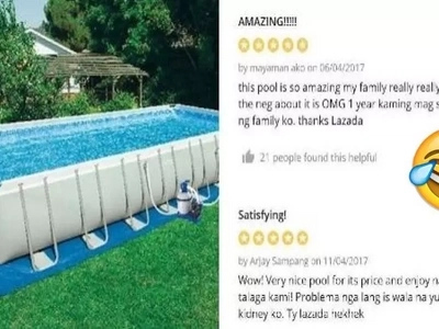 Netizens give the funniest reviews on this very expensive swimming pool on Lazada