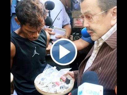 VIDEO: Erap finds DRUG DEN below police precinct in Binondo!