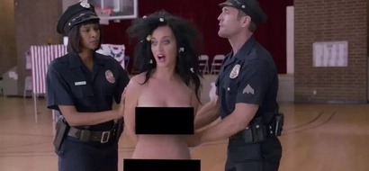 Katy Perry gets completely naked to vote for US President