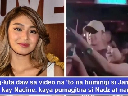 Nagpasaklolo daw si James! Video from different angle allegedly shows James asking help of Nadine to get rid of fan which caused Nadz to make 'hawi'