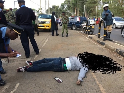 The identity of suspected terrorist killed outside US embassy in Nairobi