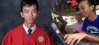 Di hadlang ang kapansanan! This resilient blind student graduates as cumlaude and he's inspiring so many people