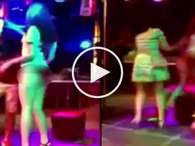 Furious girlfriend violently attacks female dancer for giving her boyfriend lap dance onstage