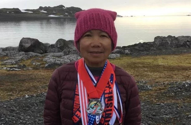 Meet 70-year-old woman who runs 7 marathons on 7 continents in 7 days