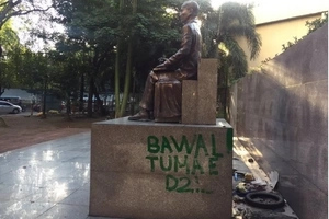 Mabini not a hero! Monument becomes a restroom for some Pinoys
