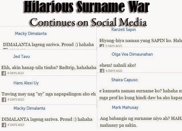 Hilarious Surname Wars! FEU netizens poked fun of their funny last names