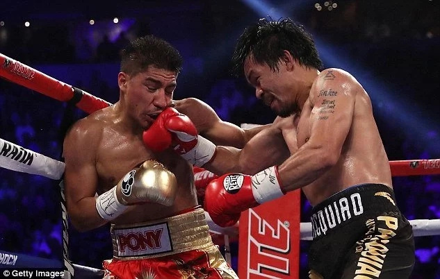 Pacquiao won unanimously against Vargas. (Photo credit: dailymail.co.uk)