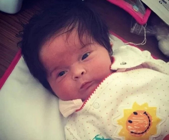 Meet baby girl who was born with so much hair, but people think it's wig
