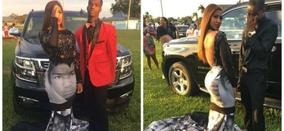 Girl, 17, wears Black Lives Matter prom dress showing faces of slain black men and women (photos)