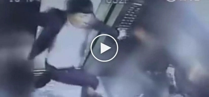 Sobrang sama! Violent Chinese man brutally beats up woman for telling him not to smoke in elevator