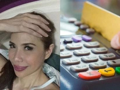 Hala siya! Jenine Desiderio just got suspicious transactions on her debit card