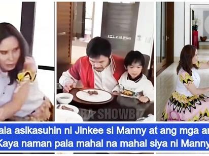 Hindi nakaasa sa kasambahay! Viral video ni Jinkee Paquiao habang inaasikaso si Manny Pacquiao at ang mga anak