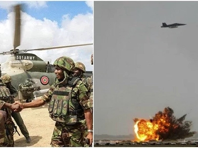 KDF launch surprise aerial attack, al-Shabaab suffers AGAIN