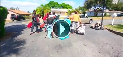 VIDEO: Watch as blacks race out of their homes after Donald Trump win