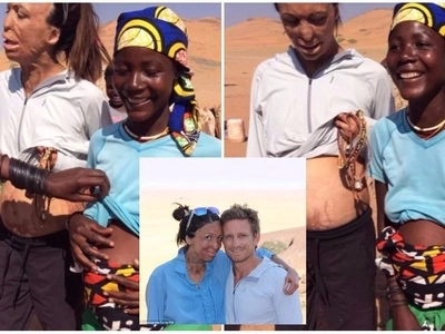 Turia Pitt shows off baby bump as she bonds with pregnant African woman