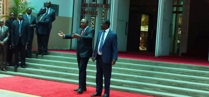 Uhuru and Raila Odinga surprise meeting lights up social media